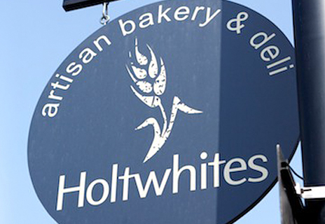 Holtwhites shop sign
