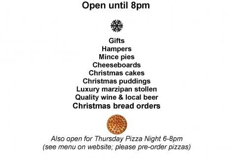 Late night shopping on Thursdays until Christmas